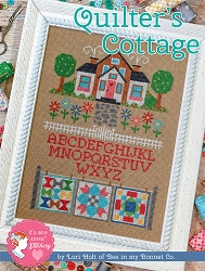 Quilter's Cottage by Lori Holt Cross Stitch Pattern