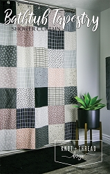 Bathtub Tapestry Shower Curtain Pattern