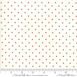 Moda Sweet Tea Dot Vanilla Red 5723 14 By Sweetwater