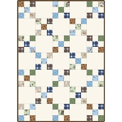 Cozy Cabin Irish Chain Quilt Pod