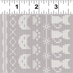 REMNANT Clothworks Fair Isle Friends Y2577-62 Taupe 5 Yard Remnant