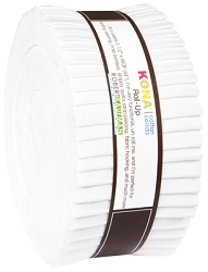 Kaufman Kona Cotton Solids Roll-Up White