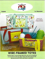 Wire-Framed Totes Patterns by the Fat Quarter Gypsy