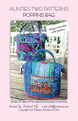 Poppins Bag Pattern and Stays By Aunties Two Patterns