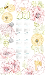 2020 Robin Pickens Calendar Tea Towel