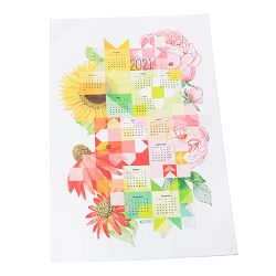 Sew Happy Calendar Tea Towel