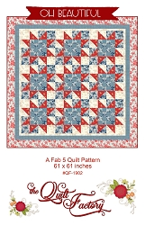 Oh Beautiful Fab 5 Quilt Pattern by the Quilt Factory