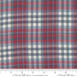 Moda Northport Silky Woven 12215 24 Blue Red Plaid