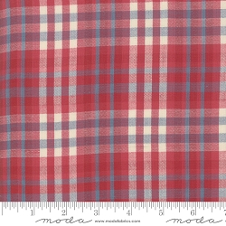 Moda Northport Silky Woven 12215 32 Red Blue Plaid
