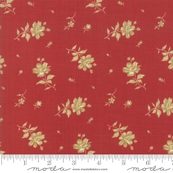 Moda Northport Prints 14883 19 Red Tan