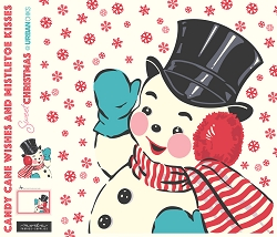 Sweet Christmas Digital Snowman Panel by Urban Chiks