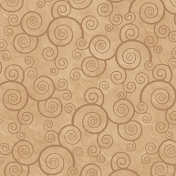 Quilting Treasures Harmony Curly Scroll Camel