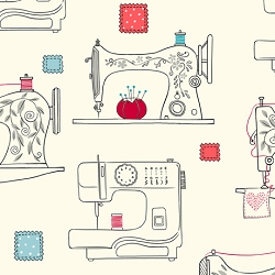 Quilting Treasures Sew What? Sewing Machines Cream