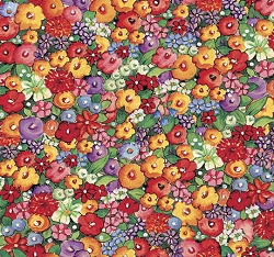 QT Bless This House 27296-X Packed Floral Multi