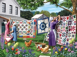 Quilts in the Backyard 500PC Puzzle