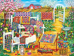 Garden Quilting 500 PC Jigsaw Puzzle