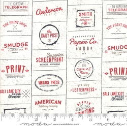 Moda The Print Shop by Sweetwater 5740 13 Cream Red