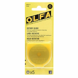 Olfa 45mm Rotary Blades 5 Count