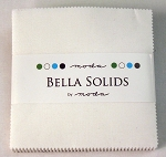 Moda Bella Solids White Charm Pack