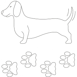 Doxie Quilting Stencil