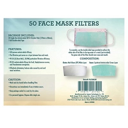 Pack of 50 Single Use Mask Filters