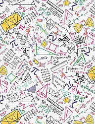 Timeless Treasures GAIL-C8230 Colorful Math Doodles on Grid
