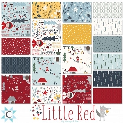 Clothworks Little Red Charm Pack