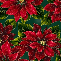 Hoffman Poised Poinsettia Hunter Gold R7667-60G