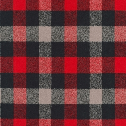 Kaufman Red Mammoth Flannel Red Black Grey Check