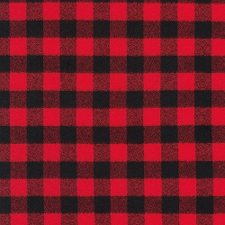 Kaufman Red Mammoth Flannel Red and Black Check