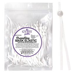 Drawstring Mask Elastic White 60 ct