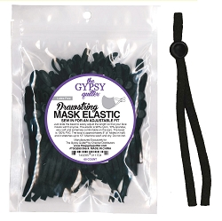 Drawstring Mask Elastic Black 60 ct