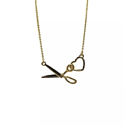 Scissor/Heart Charm Necklace