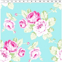 Clothworks Sunshine Full Bloom Roses Y2895-33