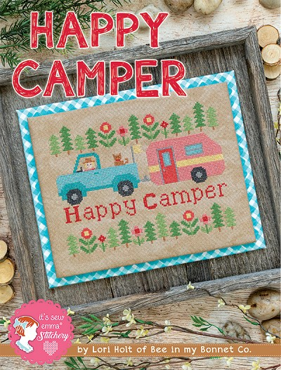 Happy Camper by Lori Holt Cross Stitch Pattern