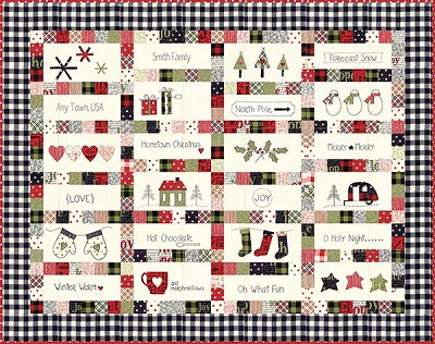 Christmas Quilt.Hometown Christmas Quilt Kit Merry Starts Here By Sweetwater